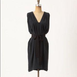 Anthropologie Laurel Adelaide Silk Dress Tie Waist